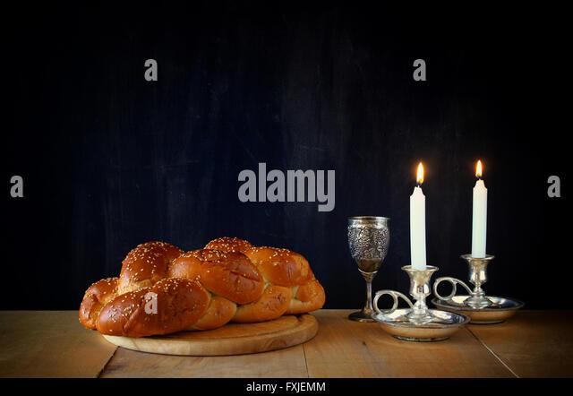 Sabbath image. jewish religion concept - Stock Image