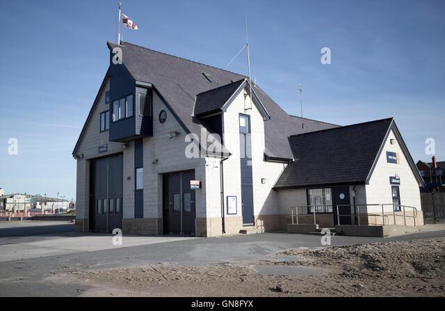 Rhyl RNLI lifeboat station north wales uk - Stock Image
