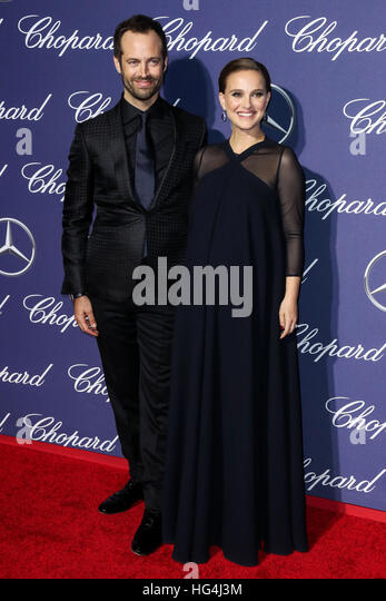 January 3rd, 2017 - Palm Springs  Benjamin Millepied, Natalie Portman attend the 28th Annual Palm Springs International - Stock Image