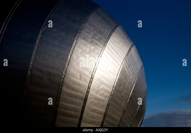 The futuristic Glasgow Science Museum Glasgow Scotland UK - Stock Image