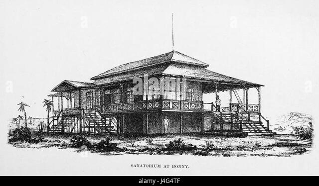Stanley Founding of Congo Free State 234 Sanatorium at Bonny - Stock-Bilder