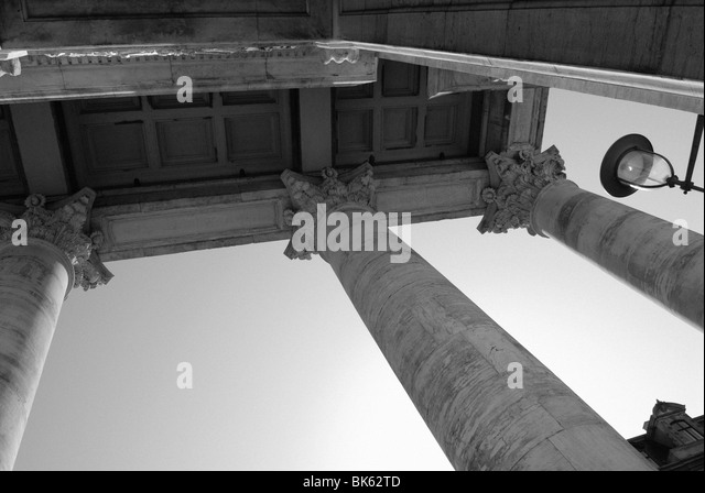 COLUMNS OF THE MARBLE CHURCH - Stock Image