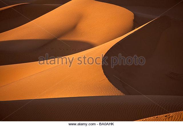 sand dune in Sahara desert - Stock Image