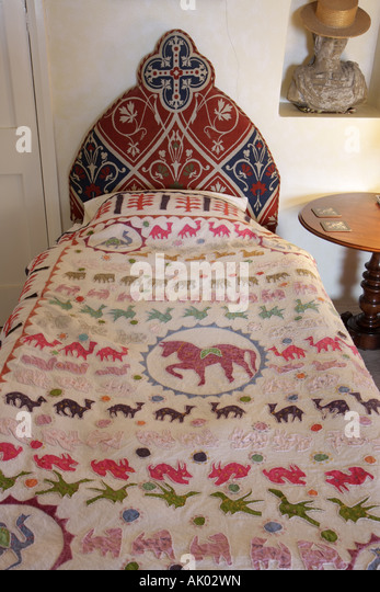 UK, England, Colridge, Halton Castle 1382, guest bedroom, - Stock Image