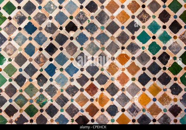 Alhambra wall tile stock photos alhambra wall tile stock for Alhambra decoration