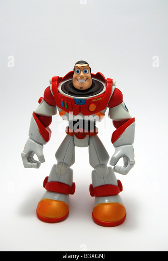 Buzz Lightyear from Toy Story film action figure - Stock Image