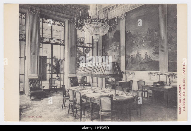 Hotel Meurice, Paris, France, Salon de Lecture - Stock Image