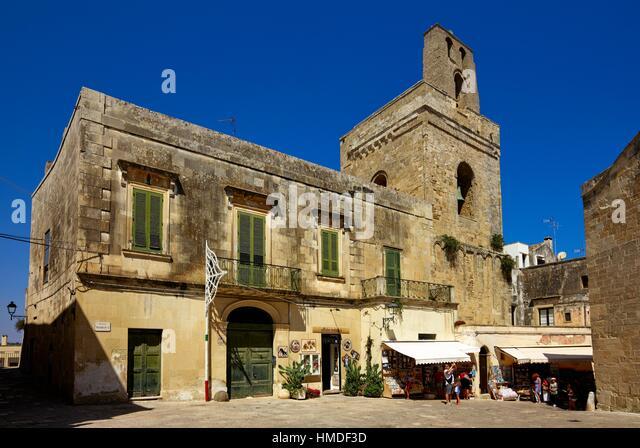 The historical center of Otranto. Apulia, Italy - Stock Image