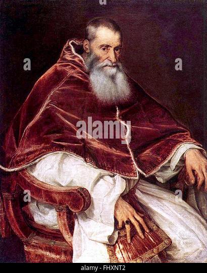 Pope Paul III - Stock Image
