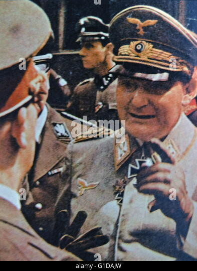 Hermann Göring (or Goering) 1893 – 1946) German politician, military leader, and leading member of the Nazi - Stock Image