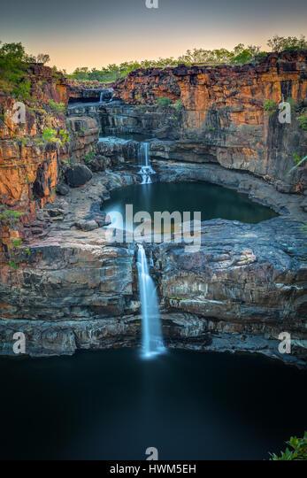 Mitchell Falls - Mitchell Plateau - The Kimberley, Western Australia - Stock Image