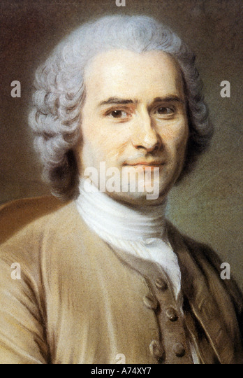 JEAN JACQUES ROUSSEAU 1712 to 1778 French political philosopher, educationalist and author - Stock Image