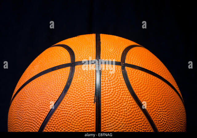 Close up of basketball - Stock Image