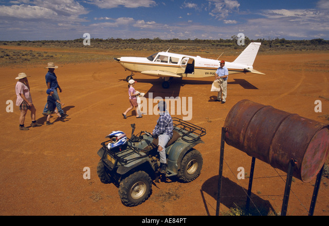Flying mailman outback Australia, - Stock Image