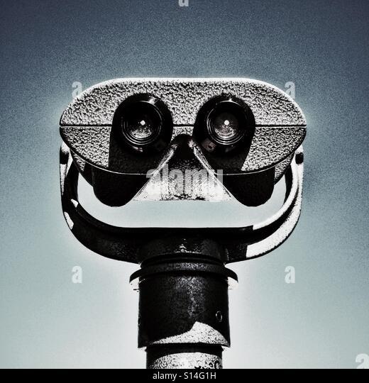 Binocular face - Stock-Bilder