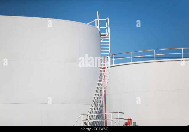 USA, New York State, New York City, Oil tank - Stock Image