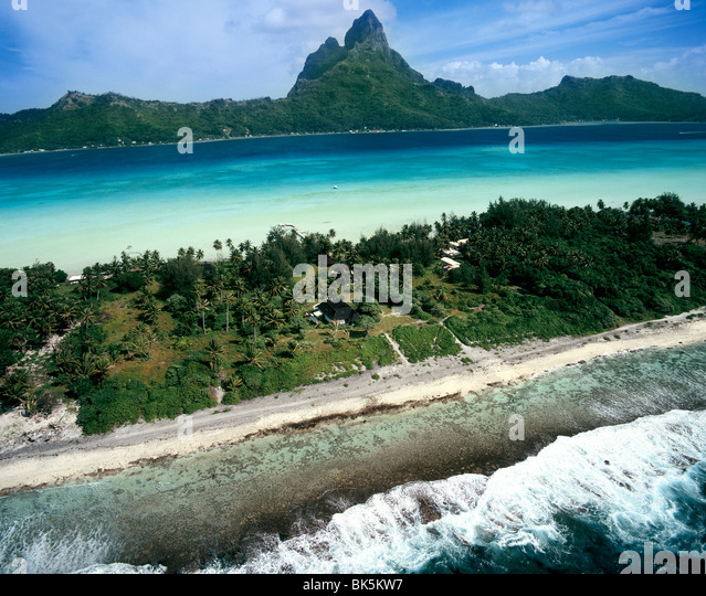 Bora Bora, Society Islands, French Polynesia, South Pacific, Pacific - Stock Image