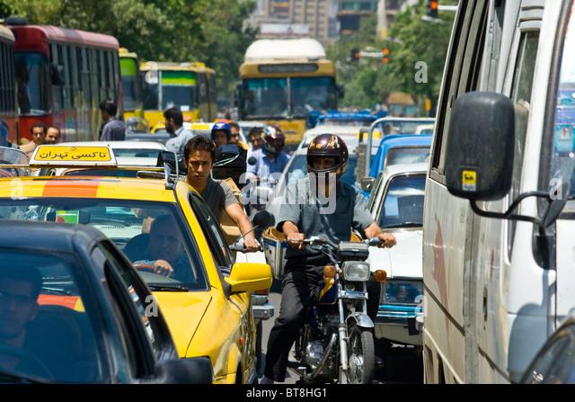 Traffic in Tehran, Iran - Stock Image