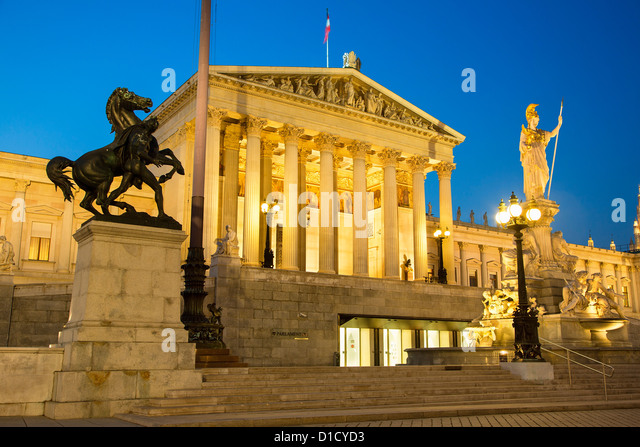 Austria, Vienna, Parliament of Austria - Stock Image