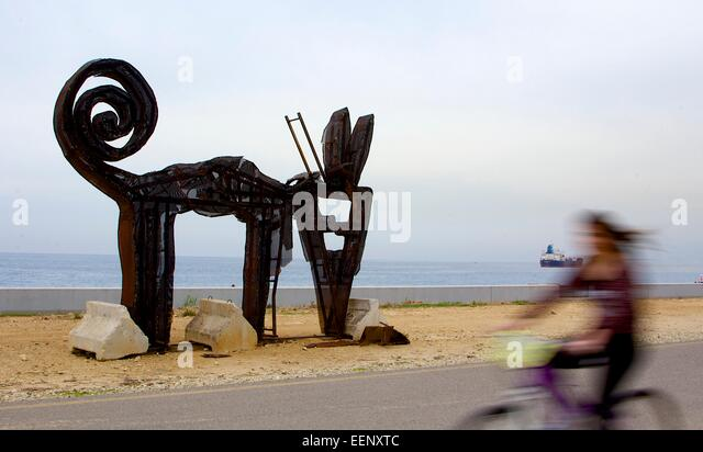 Art structure in Beirut - Stock Image