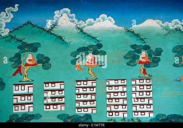 The Myth of Shangri La.  Kopan monastery. - Stock Image
