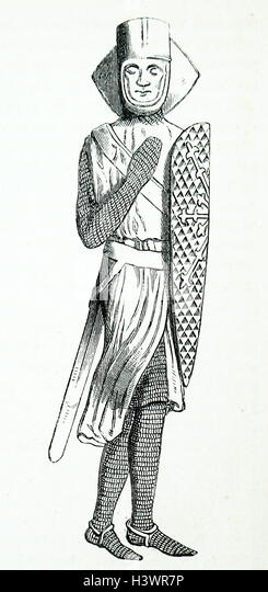 Effigy of Geoffrey de Mandeville, 1st Earl of Essex - Stock Image