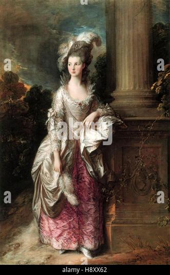 Thomas Gainsborough -The Honourable Mrs Graham - Stock Image