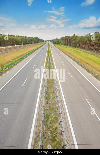Picture of a highway, road travel concept. - Stock-Bilder