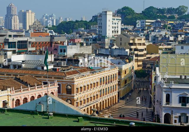 China, Macau, Largo de Senado - Stock Image
