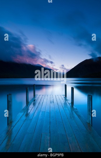 Lake Rotoiti, South Island, New Zealand - Stock Image