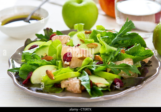 Apple,Grapefruit and Cranberry salad - Stock Image