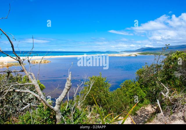 Lonely Beach on the East Coast of Tasmania, Australia, Pacific - Stock Image