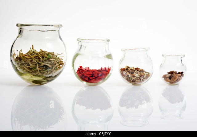 Chinese Medicine in Jars - Stock Image
