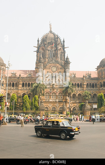 Chhatrapati shivaji terminus mumbai - Stock Image