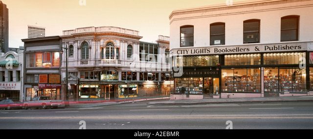 USA CA San Francisco City Lights bookstore - Stock Image