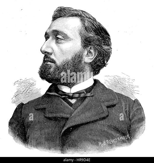 Leon Gambetta, 1838 - 1882, was a French statesman, prominent during and after the Franco-Prussian War., Situation - Stock Image