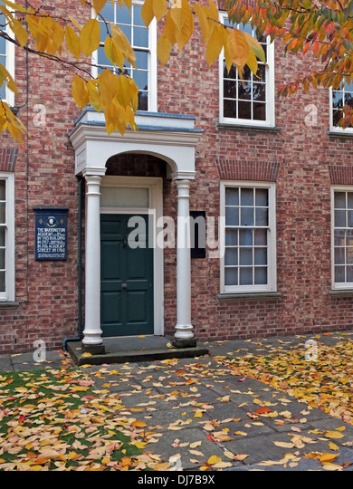 Warrington academy in Autumn, Cheshire, England, UK - Stock Image
