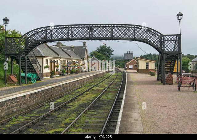 Boat of Garten station in Scotland, UK - Stock Image