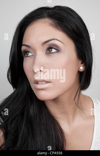 Beautiful woman portrait - Stock Image
