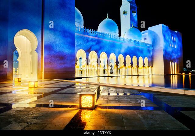 Abu Dhabi Sheikh Zayed White Mosque - Stock-Bilder