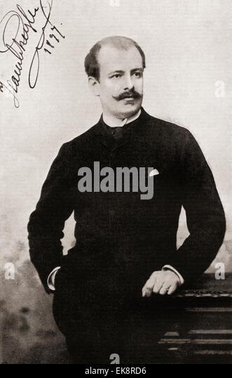 Jean de Reszke,  1850 ? 1925.  Polish tenor. - Stock-Bilder