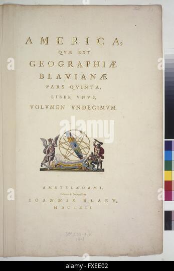 Titelseite Atlas Maior, Band 11 - Stock Image