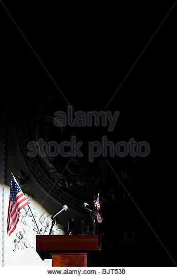 A podium - Stock Image