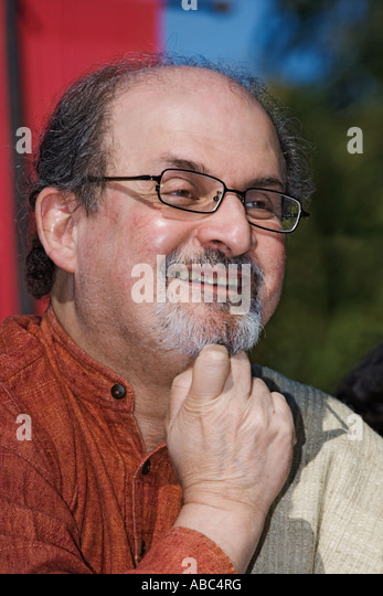 Salman Rushdie A well known author native to India - Stock Image