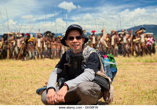 Me at Baliem valley festival - Stock Image