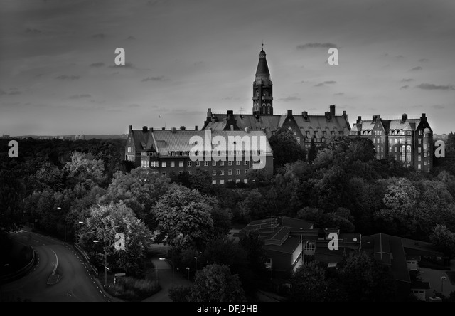An old building at Danviken, Stockholm, Sweden - Stock Image