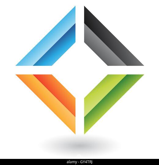 Geometric logo icon and design element - Stock Image