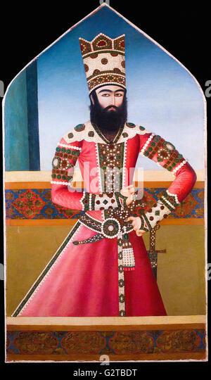 Unknown, Iran, early 19th Century - Portrait of Hasan 'Ali Mirza Shuja al-Saltana - - Stock Image