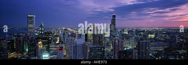 Downtown Chicago, Illinois, USA - Stock Image