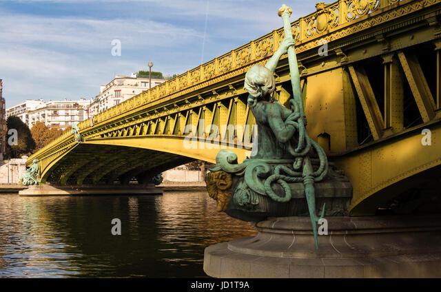 The famous Mirabeau bridge,Paris France. - Stock Image